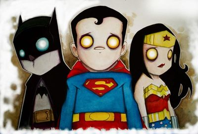 Uniquely Styled Illustrations of Comic Book Heroes