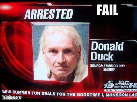 Donald Duck Arrested