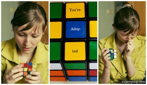 youre adopted rubix cube