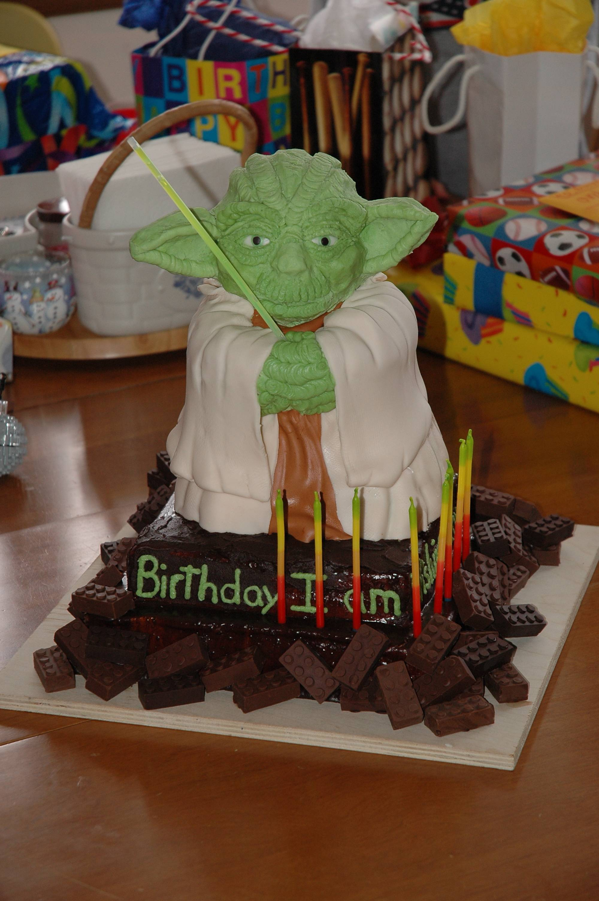 Master Yoda Birthday Cake Geekpicture This Is The Story Of