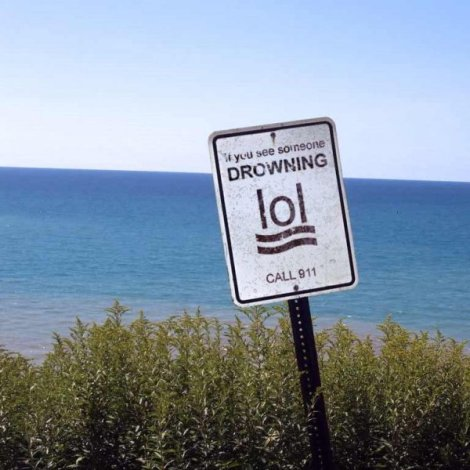 if you see someone drowning