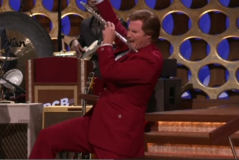 Ron Burgundy jazzes up the flute!