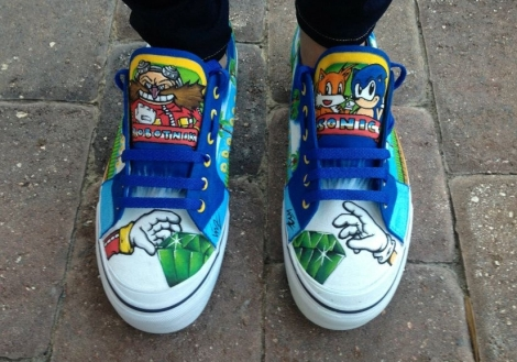 Custom Sonic the Hedgehog Shoes