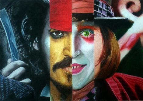 Johnny Depp's Various Roles