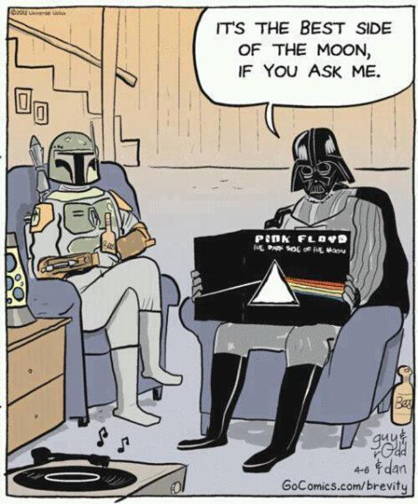 What Darth Vader thinks of Pink Floyd