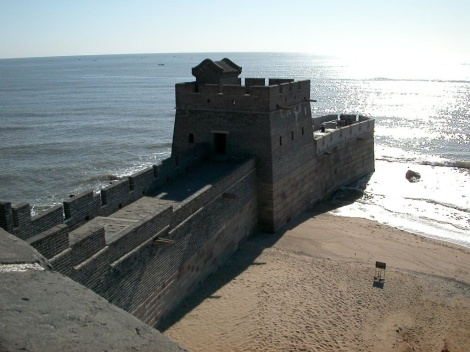 The Great Wall meets the sea