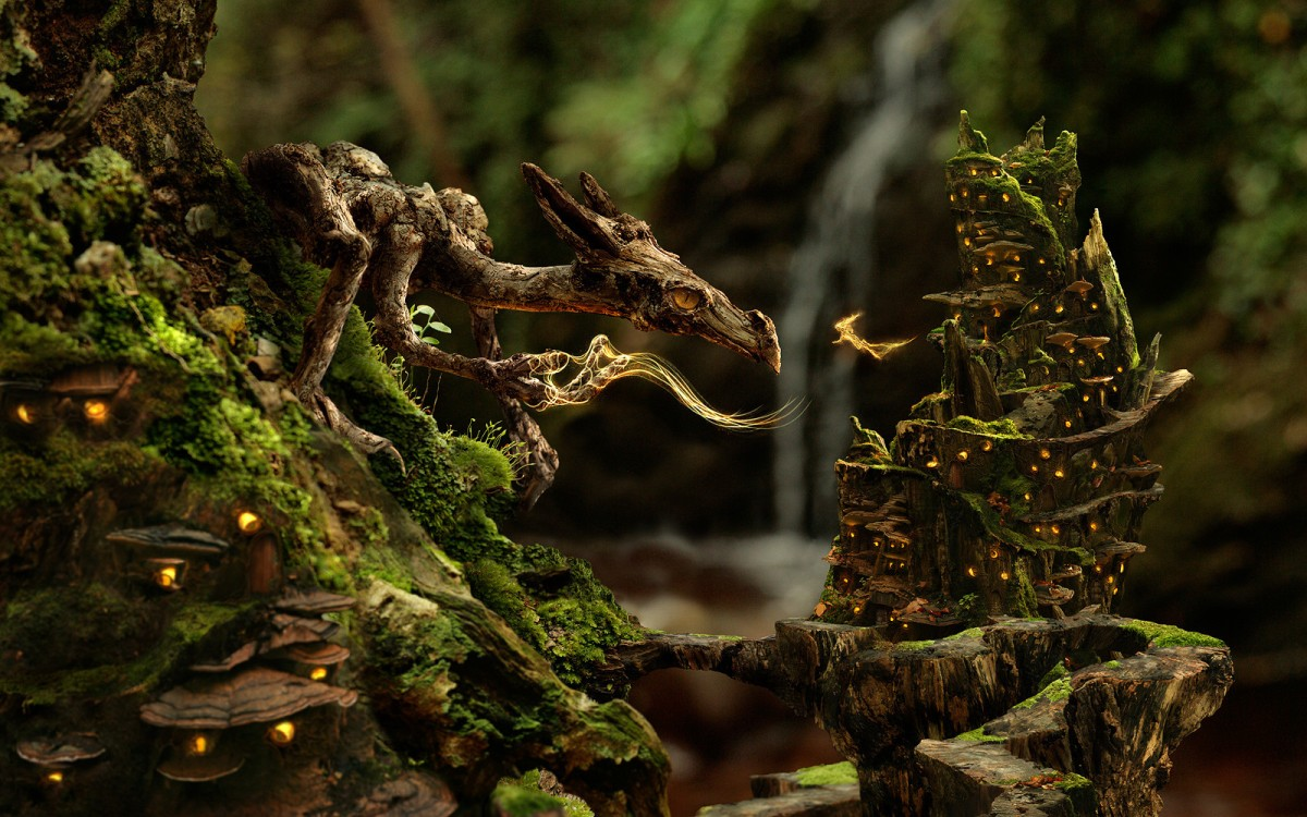 Moss Dragon [Digital Art]