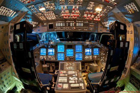A View Inside Space Shuttle Endeavor's Flight Deck [Picture]