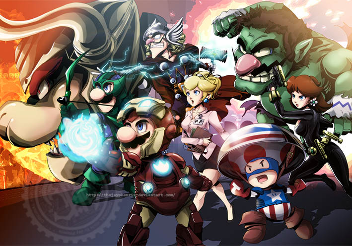 the mario avengers gamer art this is the story of