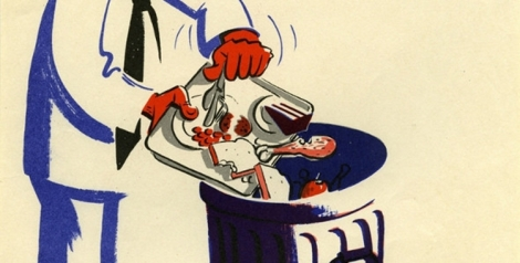 WWII Vintage Posters on Wasting Food [Gallery]
